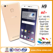 4g china smartphone H9 5.5 inch 1G+16G Quad Core MTK6737 Android 6.0 mobile phone new product