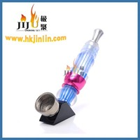 JL-165 Yiwu Jiju Plastic Tobacco Smoking Pipe Herb Brass Smoking Pipe