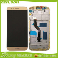 Lcd display with touch glass digitizer +Frame Assembly For Huawei G8 RIO-L02 RIO-L03 replacement screen black/white/gold color