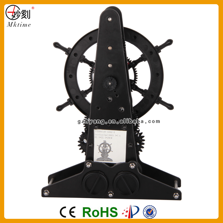 art clock matal material table gear clock