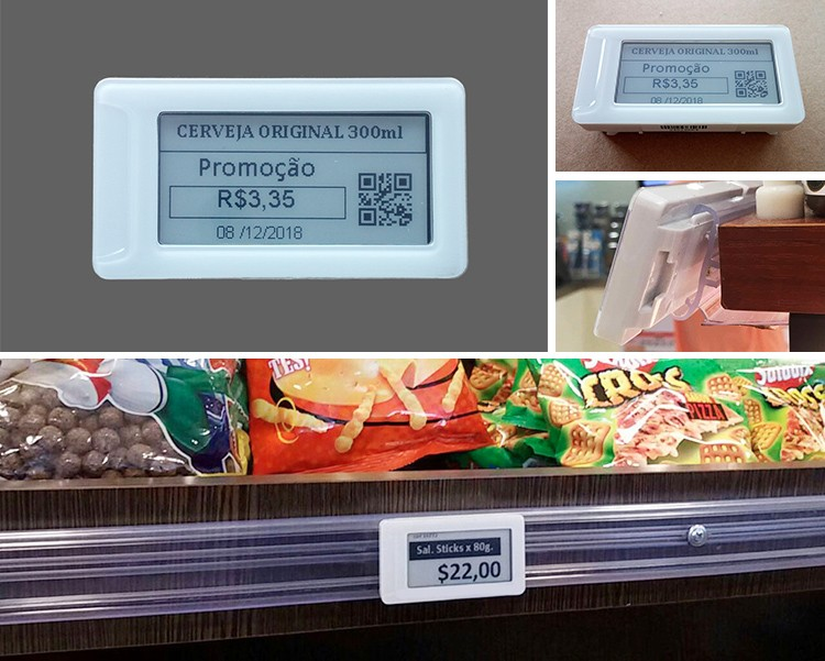 "HD 2.13"" display screen e-paper dot matrix electronic price label, supermarket ESL electronic shelf labels/price tag"