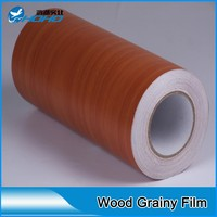 PVC self adhesive timber wood shelf liner foil wallpaper sticker