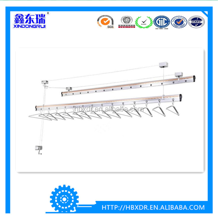 China OEM aluminum factory high quality aluminum extrusion profile for ceiling mounted lifting clothes hanger