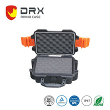 Plastic case with rubberized handle