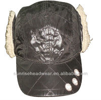 custom winter baseball hat with ear flaps