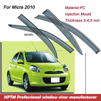 Injection mold type sun visor japan car accessories Window visor for Micra 2010