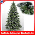 Large snowy outdoor native christmas tree