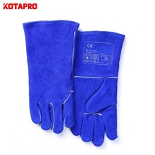 Logo Printed tig welding gloves cow leather
