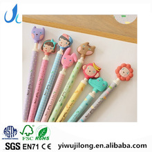cute animal cartoon push style ball piont pen good for school and office in stocks