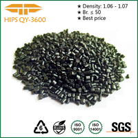 Factory price recycle black HIPS granules / HIPS High impact Polystyrene