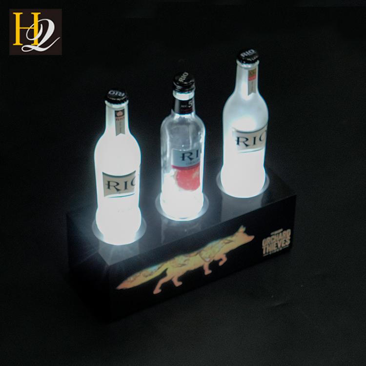 led vodka bottle display