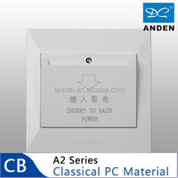 Classical PC Material White Color Hotel Switch
