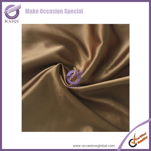#20821 brown cheap shiny satin wedding party satin wholesale 120 132 round wholesale cheap beige tablecloths for wedding party