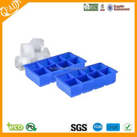 "100% BPA free food grade silicone 8 LARGE 2""cubes per ice cube mold"