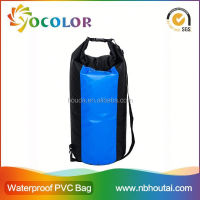 2015 customized logo Pvc Waterproof Waist Pack Dry Bag with shoulder straps