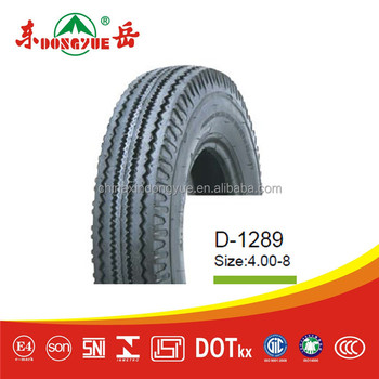 Tricycle tire 4.00-8 D-1289 Chinese top quality motorcycle tires