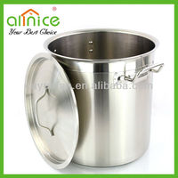 High grade Sanding Polished stainless steel commercial pot/large cooking pot/big soup pot