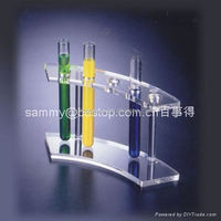 Spinning Counter Top Display Rack Acrylic Laptop Brochure Display Stand