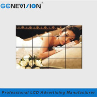 seamless 55 inch 4x4 full color Wall-mounted cheap lcd video wall for Business Organizations