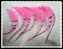 Double color hair extension feathers