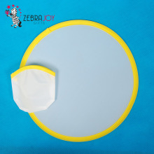 Logo printed foldable nylon fabric ring frisbee blank