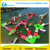 Commercial red and with green color giant floating inflatable water obstacle,water splash park,seashore inflatable aqua park