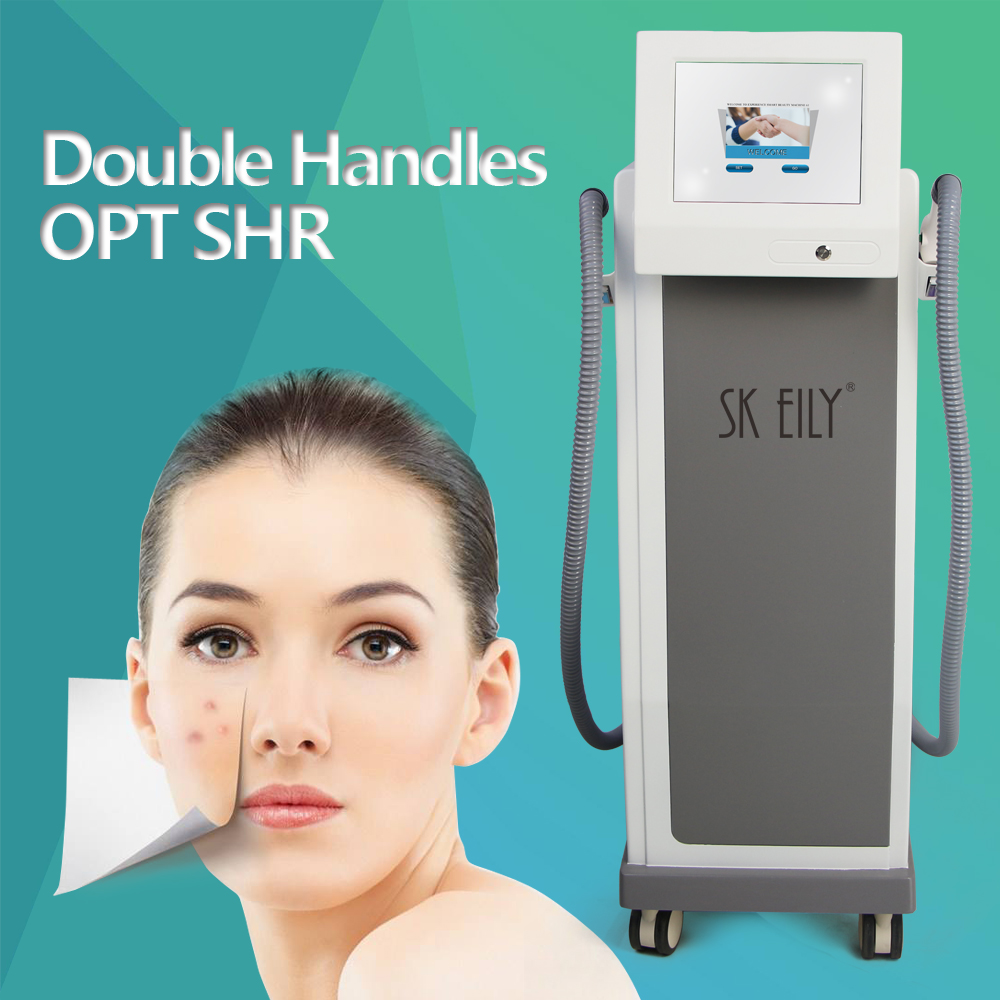 Double Hand Piece Super Ipl Opt Shr 950 Painless Hair Remove Machine