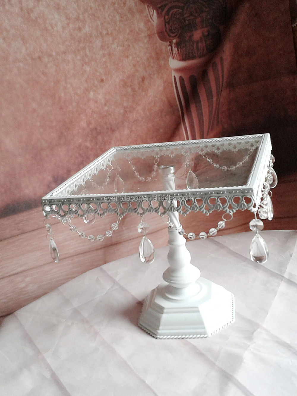 crystal square cake stand glass cake stand for sale wedding cake stand