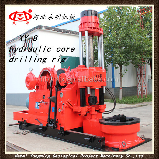 Deep hole core drilling rig machine XY-8 Hydraulic Core Drilling Rig