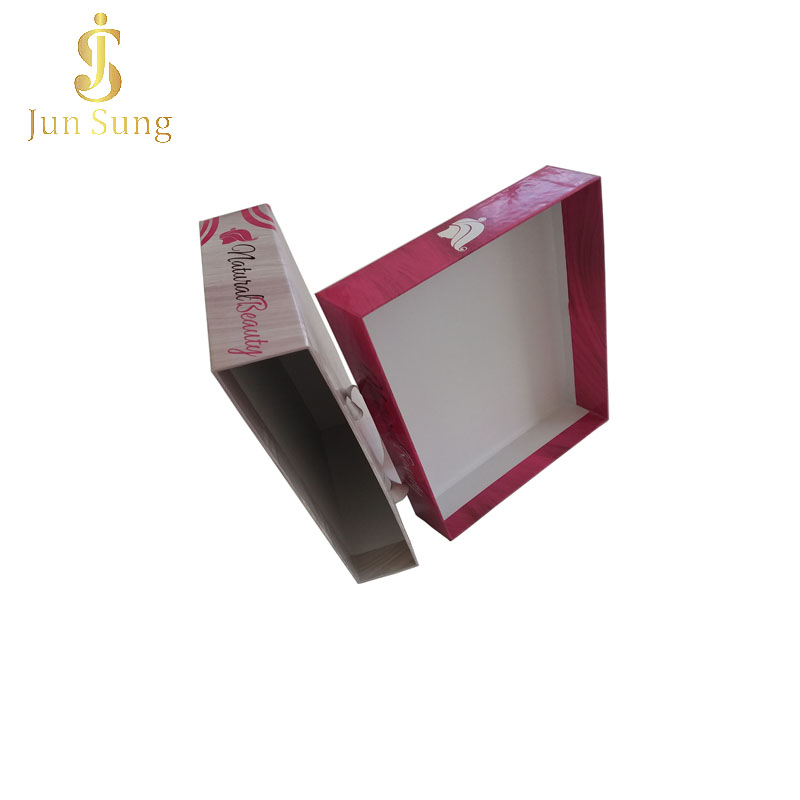 Professional Logo Printed Recycled  Wholesale Custom Hair Extension Packaging Box