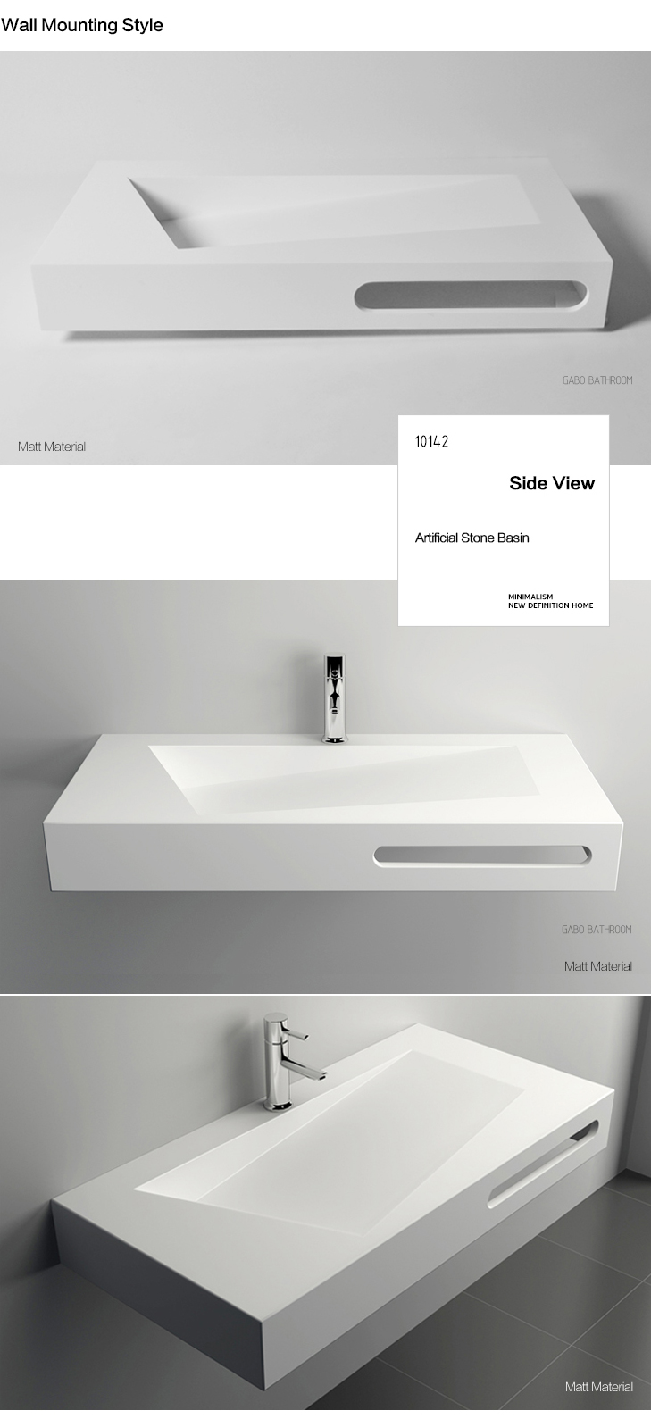 Modern bathroom sink units