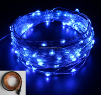 DC LED Blue Custom Made Christmas Trees Copper Wire String Lights LED