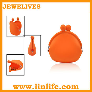 Hot selling Fashion silicone rubber coin purse