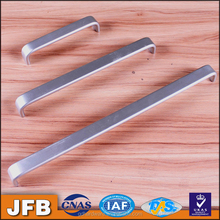 Furniture hardware fittings aluminum flush pull furniture handle foggy silver aluminum drawer pulls