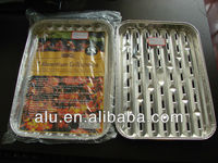 disposable aluminum foil food roasting tray, bbq tray, grill tray