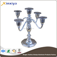 silver plating candle holder for wedding metal aluminum