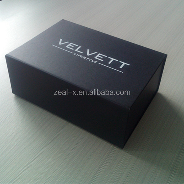 Black Fany Paper Gift Box Wholesale Flat Pack With Logo Foil For Shampoo, Conditioner, Soap and Toilet Wipes Packing