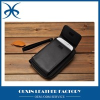 Genuine leather material leather wallet cell phone holder wallet for men multifunctional leather wallet from guangzhou