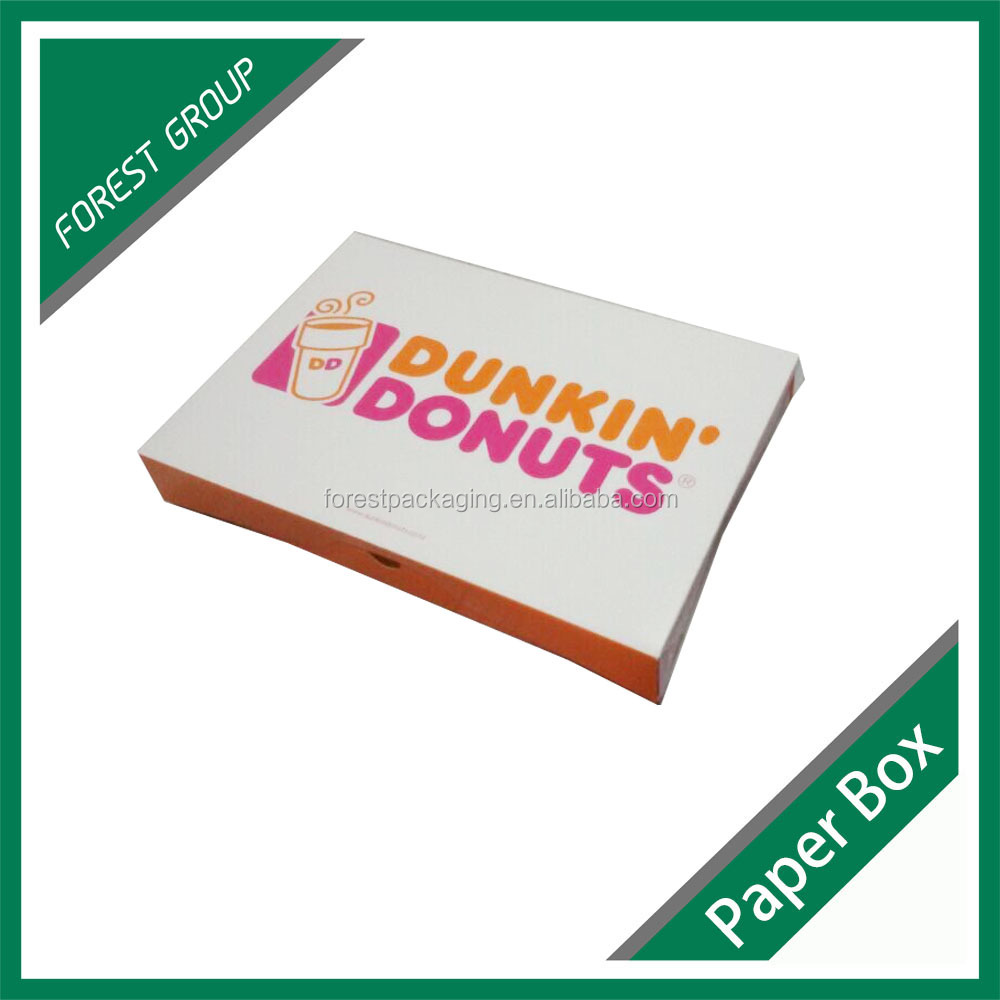 FOLDABLE RECYCLED PAPER CARDBOARD BOX FOR DONUTS PACKAGING WITH PRINTING