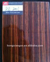 straight santos rosewood grain veneer wrapped mdf