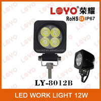 Wholesale spot/flood led light 12w led driving work light 12v led car lighting