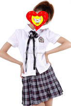 factory direct selling school teacher summer bay high school uniform fancy dress QAWC-0034