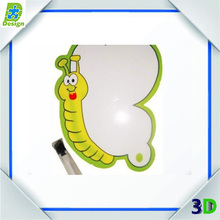 elegant shape fridge magnet board with pen