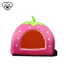 Best cute strawberry cotton soft small dog cat pet bed house
