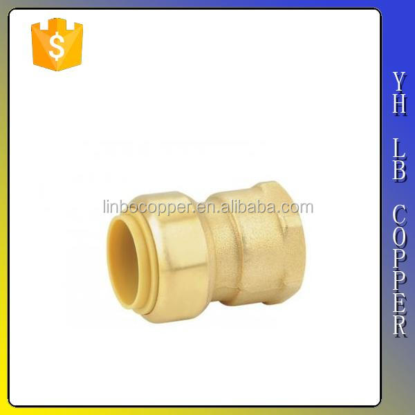 LB-GutenTop Lead free female brass push connector with PEX COPPER CPVC pipe Quick Connect Water Fittings