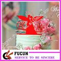 New design red color acrylic cake topper for wedding decoration