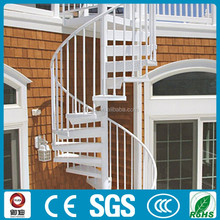 decorative carbon steel outdoor spiral staircase prices
