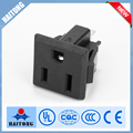 China factory AC 125 15A Power Connector 3 Terminals to US 3 Pin Socket