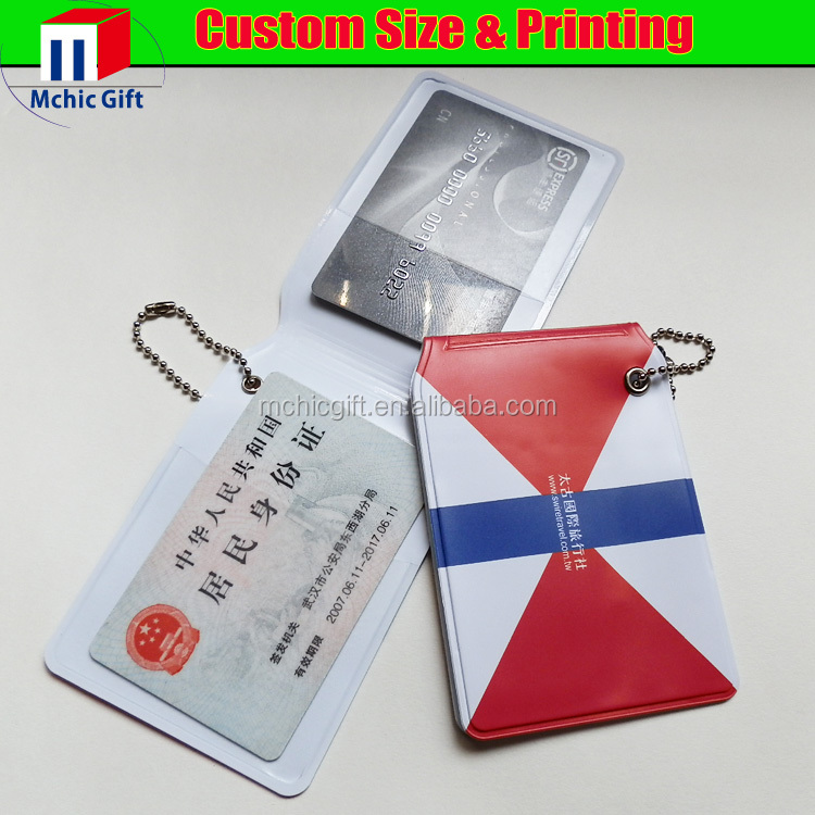 New brand soft id card holder/pvc card protector with cheap price