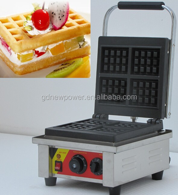 new style stainless steel 4 slices electric commercial industrial waffle cone making machine